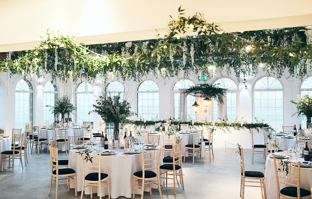 greenery ceiling decor