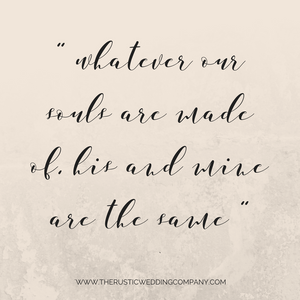 15 love quotes for your wedding emily bronte