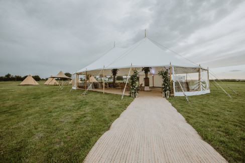 sami tipi two pole sailcloth at cattows farm wedding