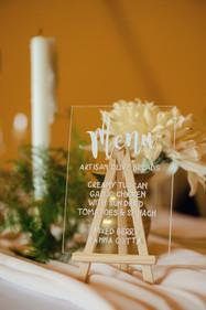 acrylic perspex menus
