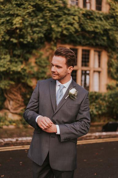 grey wedding day suits