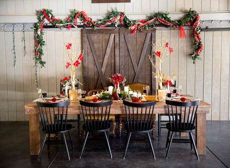 A Christmas Wedding Feast From Across the Pond