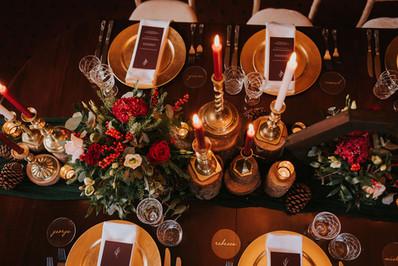 christmas dinner table decor