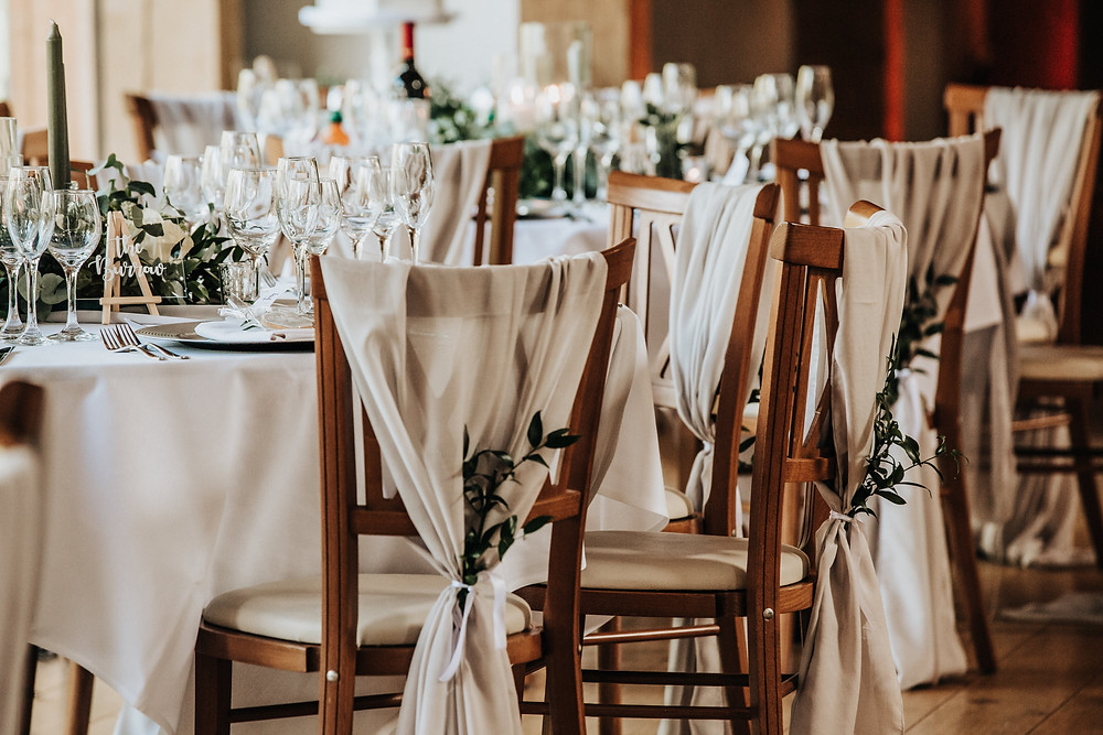 grey chair drape hire leicester