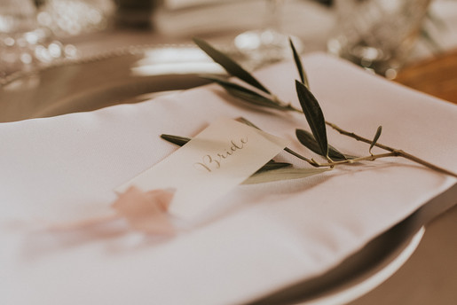 vellum wedding day stationery