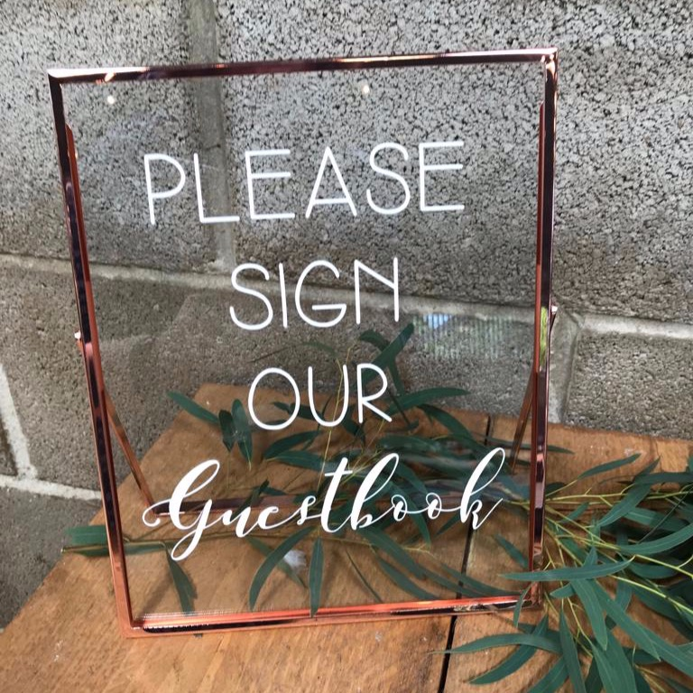 COPPER FRAME GUESTBOOK SIGN
