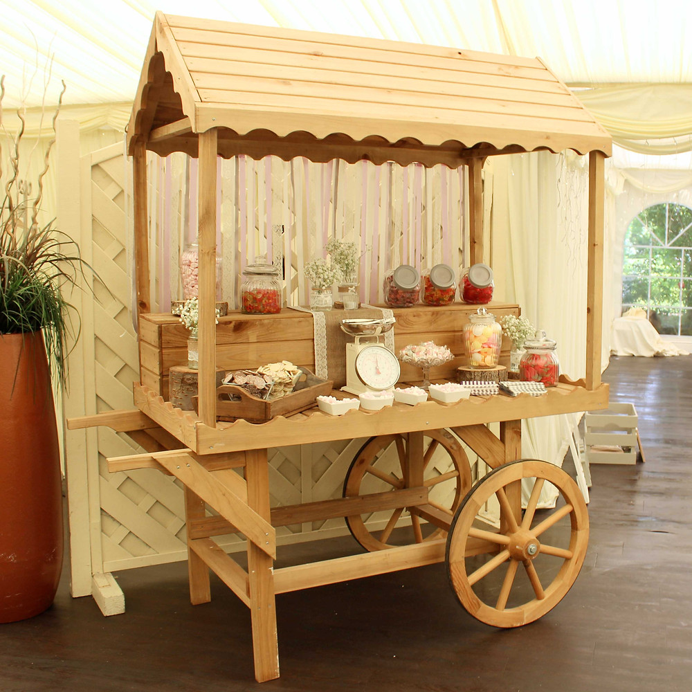 Rustic Candy Cart Hire Leicester
