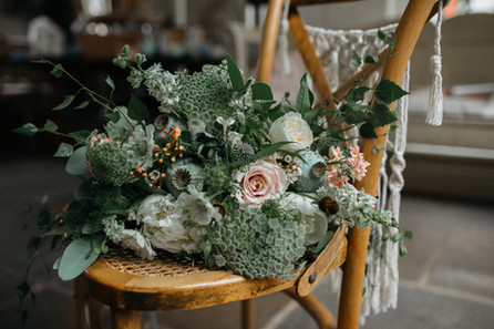 boho testured bridal flowers