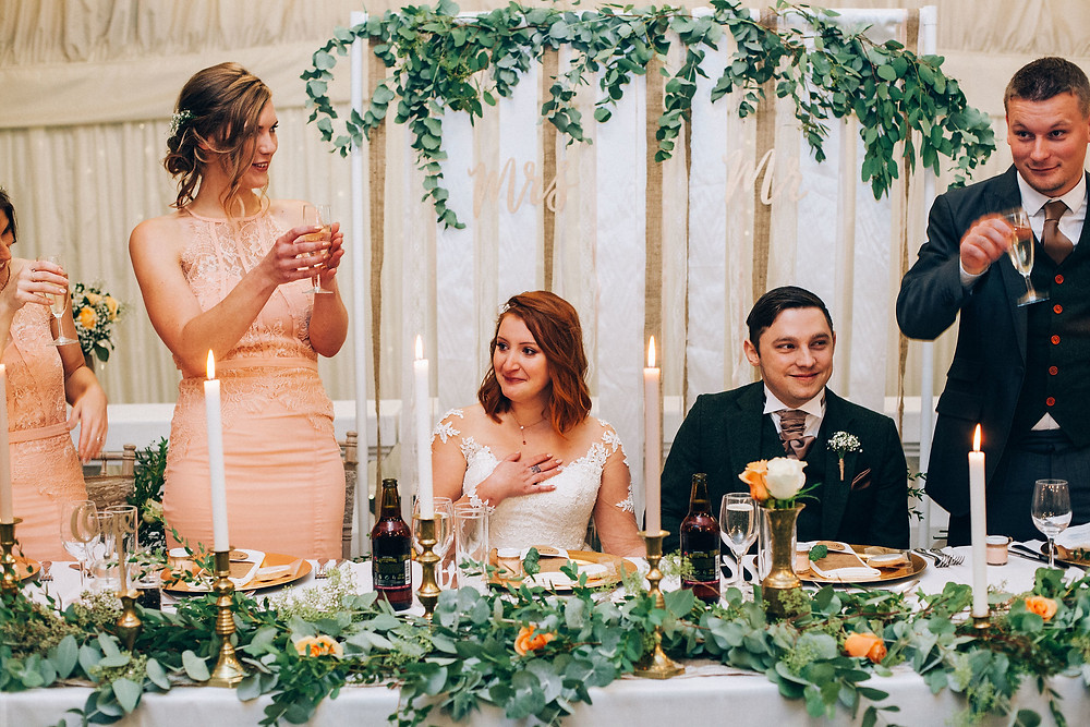 real wedding eucalyptus foliage styling