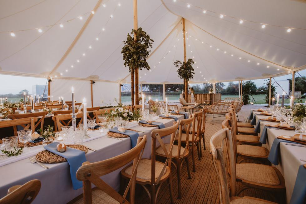 long banquet tables