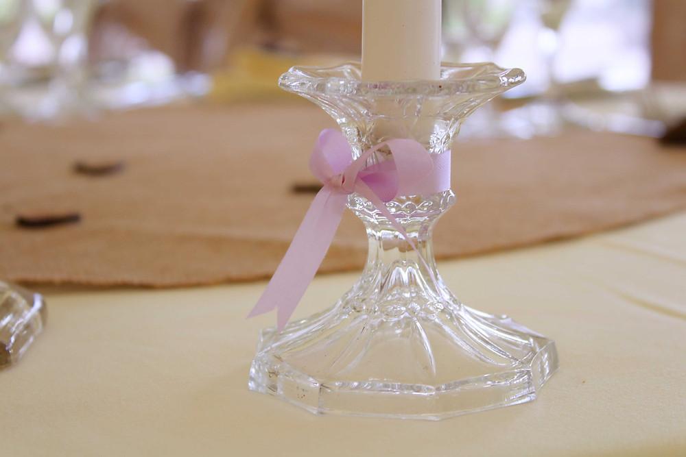 purple wedding styling