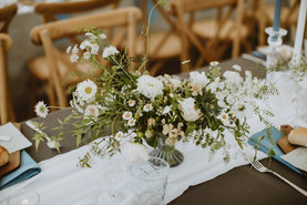 wispy garden florals for wedding tables