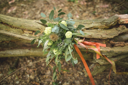 woodland wedding copper bridal bouquet
