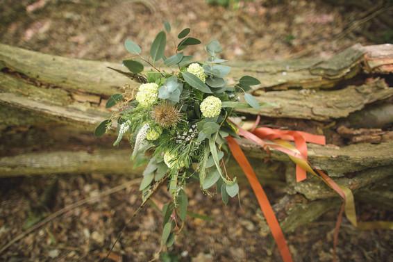 woodland wedding copper bridal bouquet