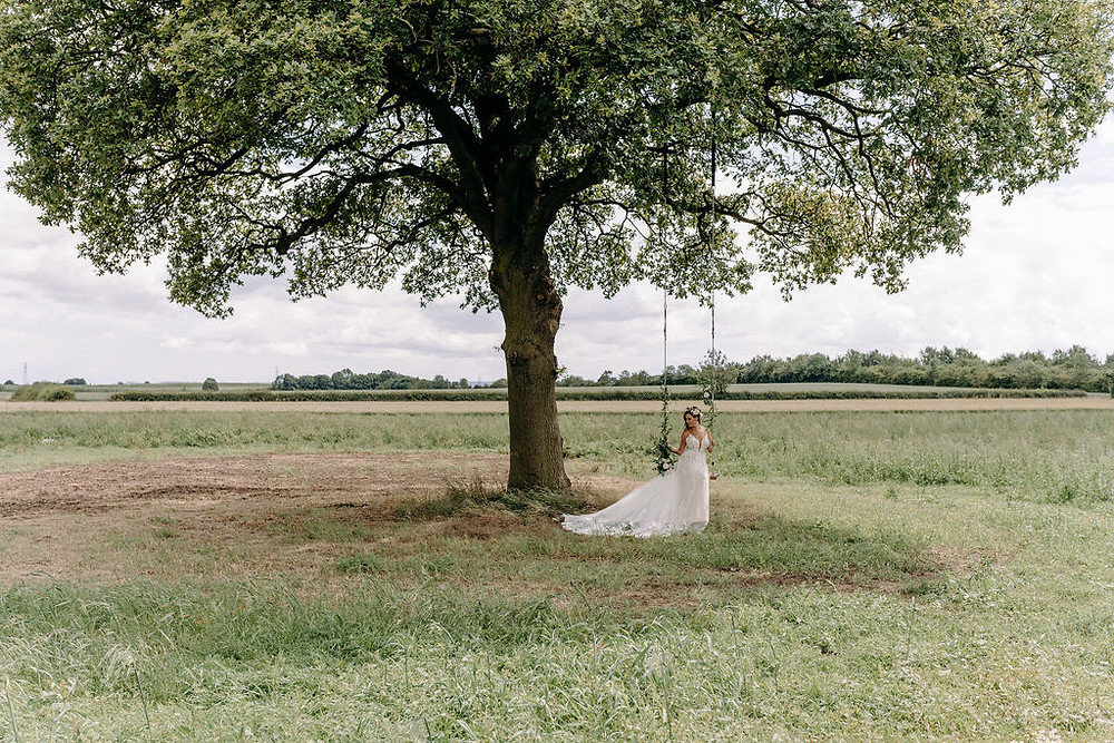 meadow vale wedding venue with a tree swing