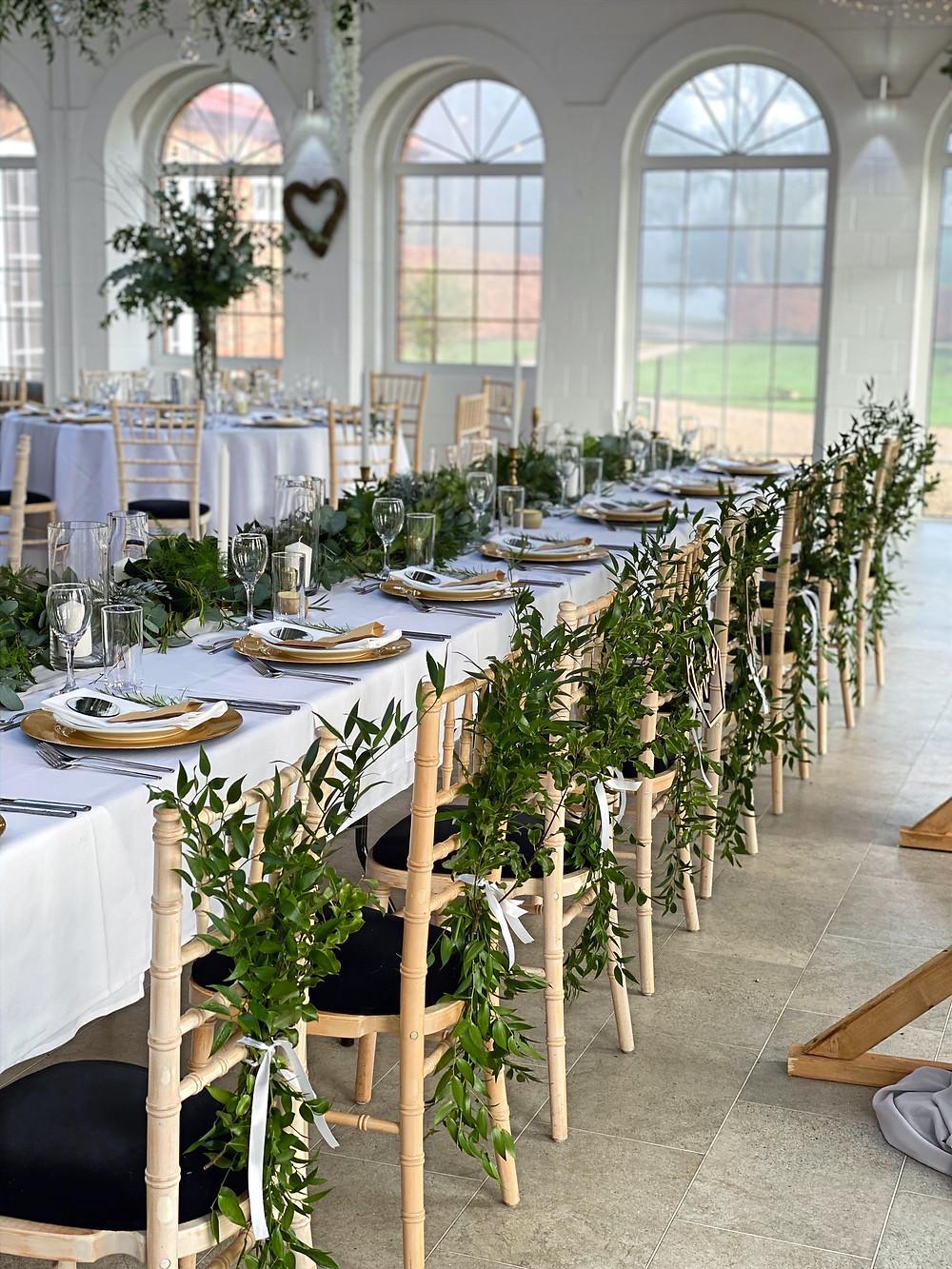 foliage chair decor ideas