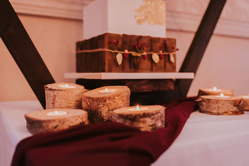 log slice candles