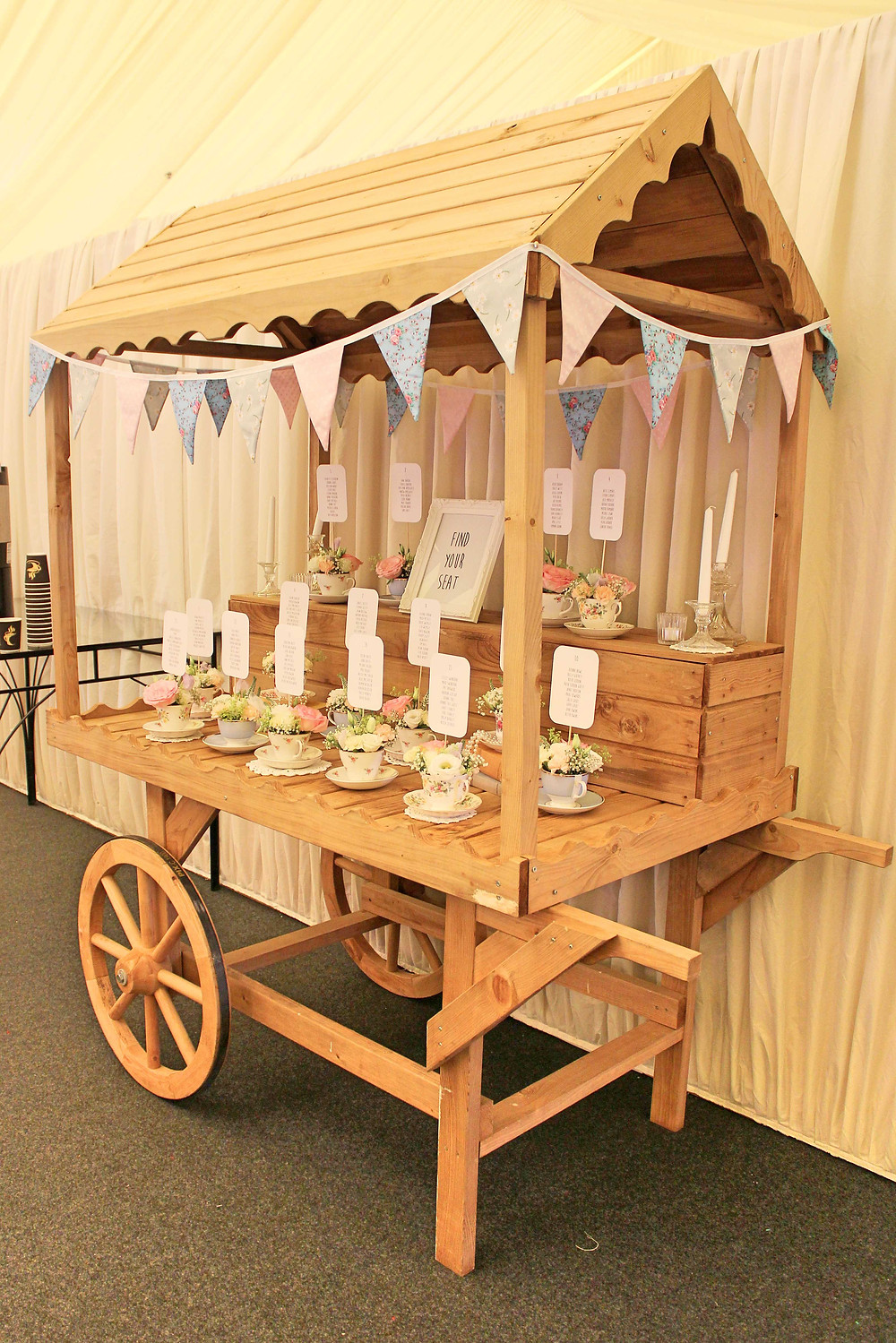 vintage candy cart hire leicester