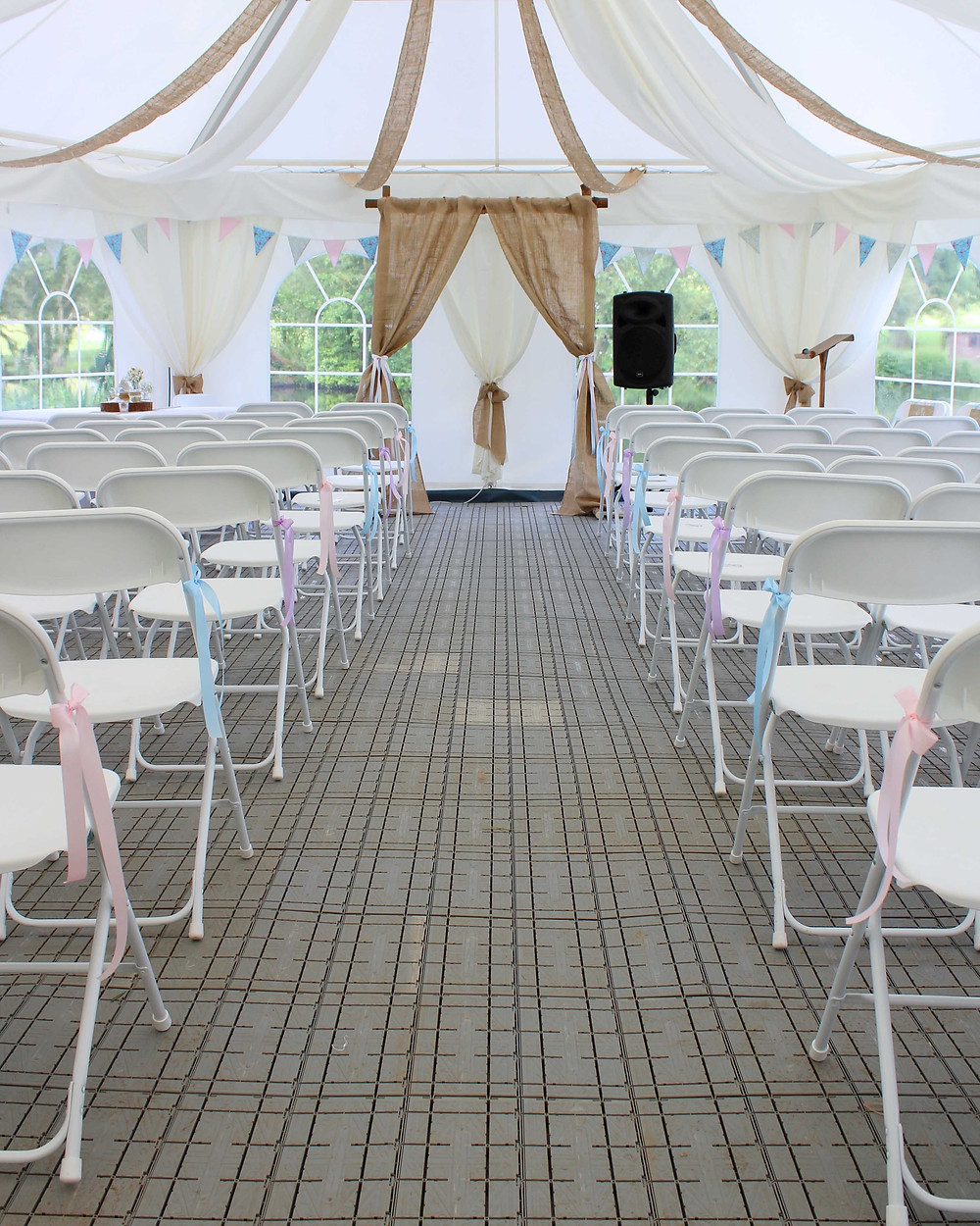 Pastel Marquee Ceremony Styling Leicester
