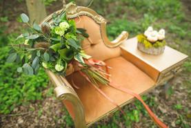 woodland textured bouquet flowers