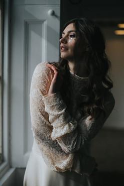 lace wedding dress blake models morgan