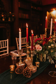 tall red dinner candles