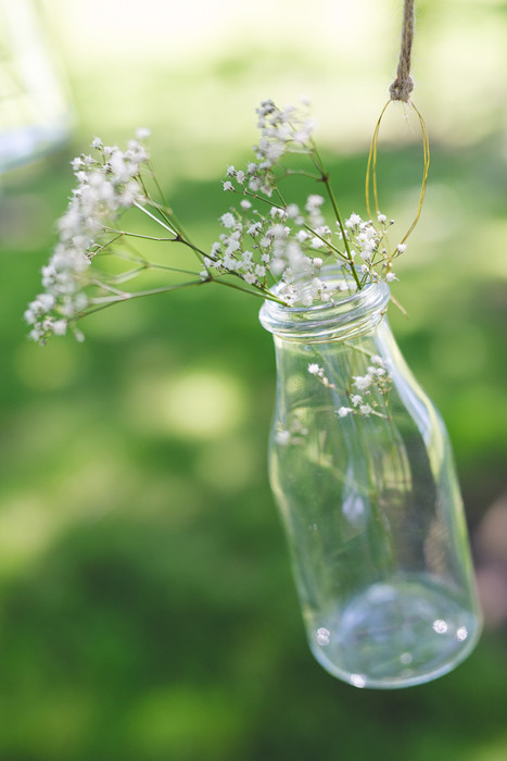 milk bottle wedding decor