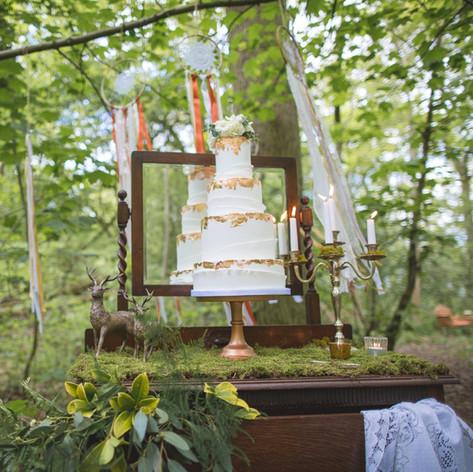 Woodland Wedding Cake Table Display