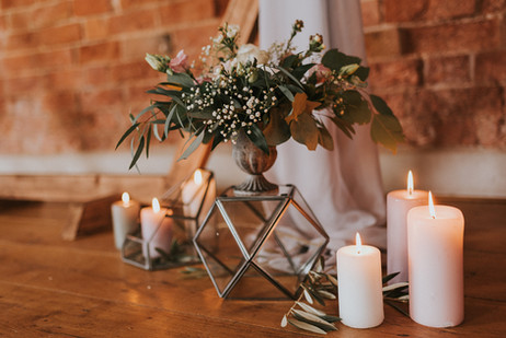 blush pink wedding decor