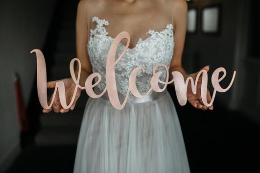 laser cut wedding signage