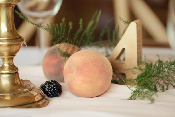 wedding decor with fruit tuscan