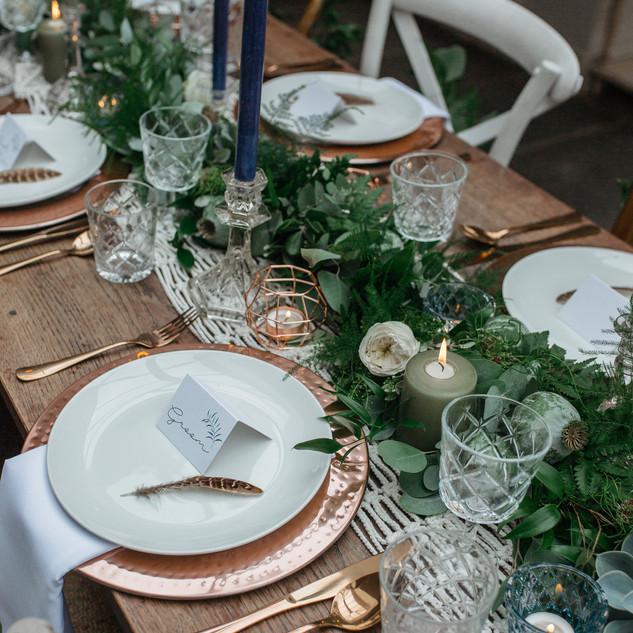 bohemian wedding table ideas