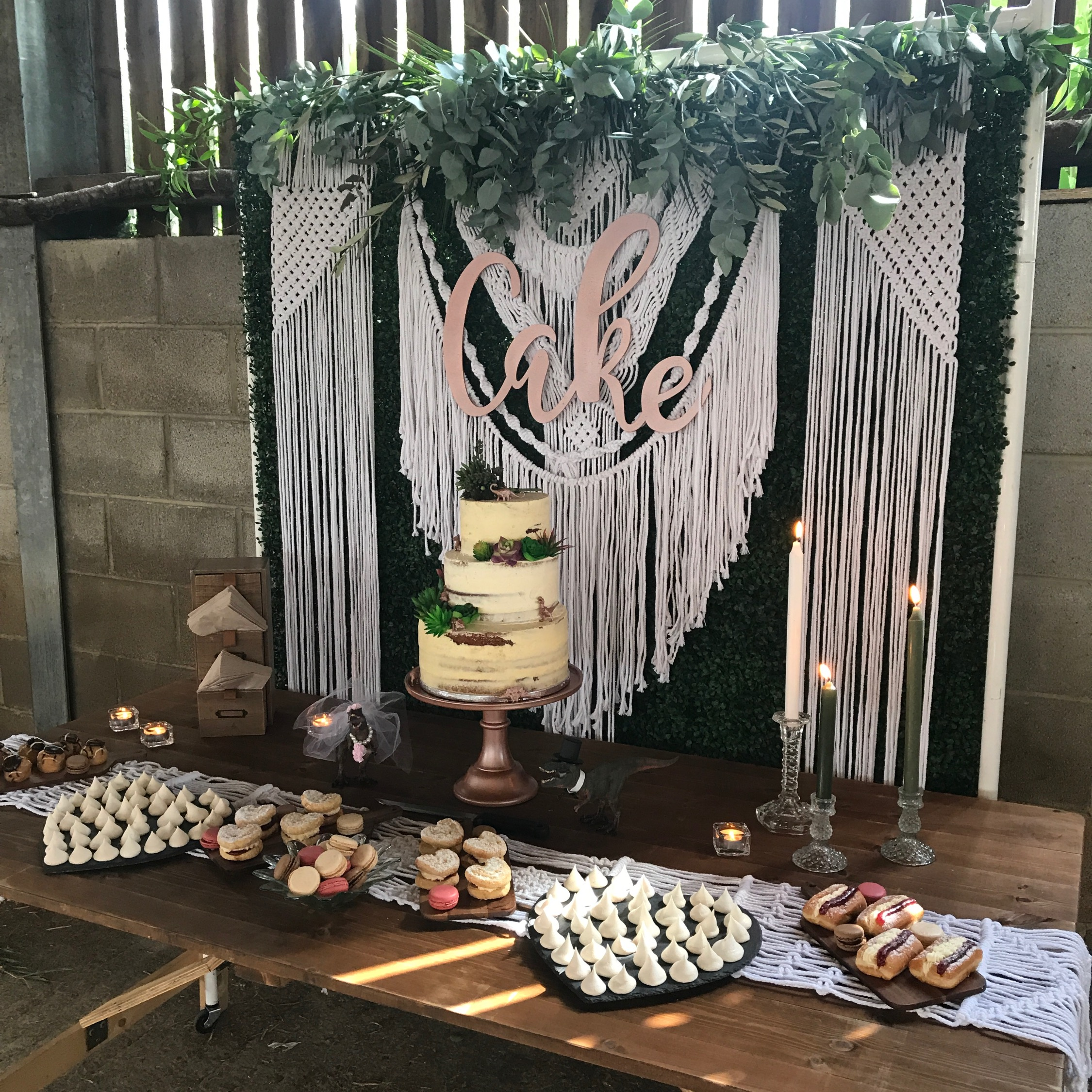 BOHO CAKE DISPLAY