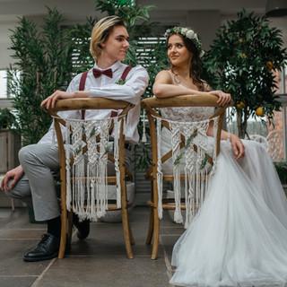 macrame chair backs wedding
