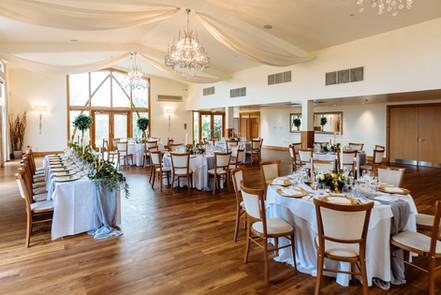 Mythe Barn Rustic Wedding breakfast room
