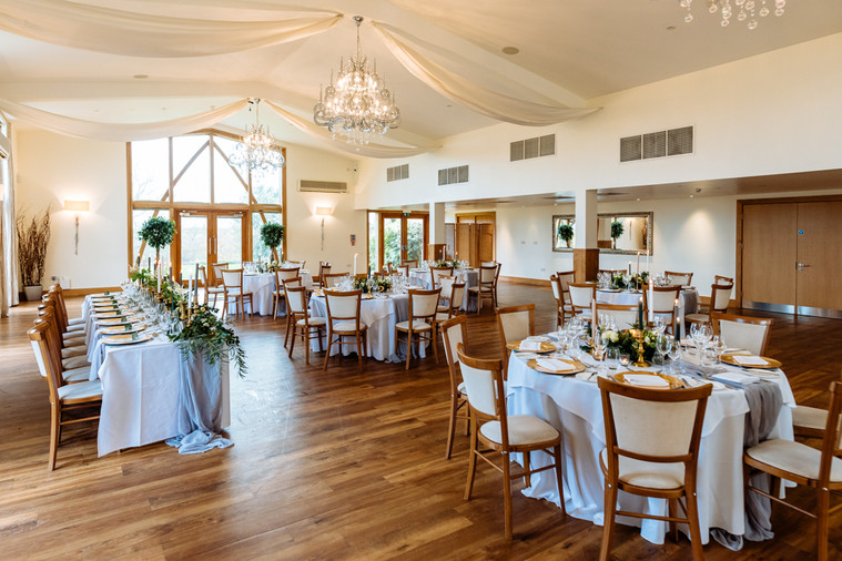 Mythe Barn Rustic Wedding breakfast room