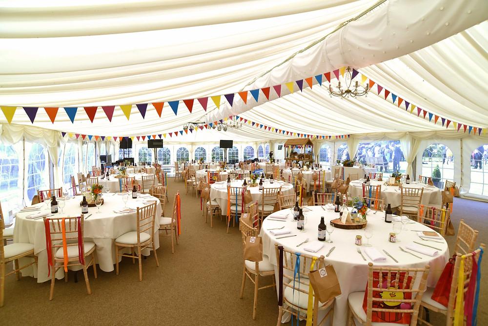Wedding Styling at Beeston Fields Nottingham