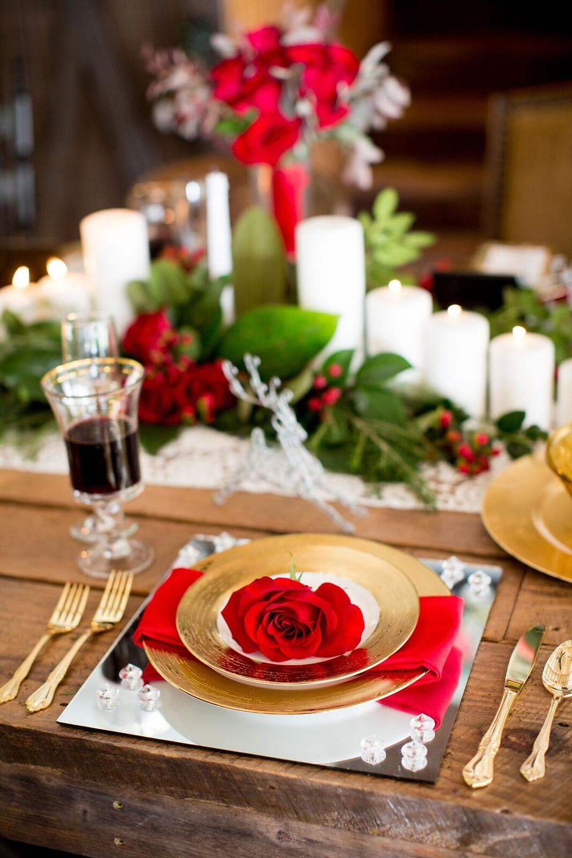 Rustic Christmas Wedding table Ideas