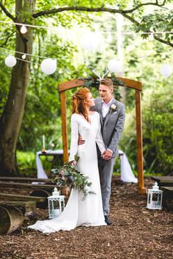 Hothorpe Hall Woodlands Wedding ceremony area