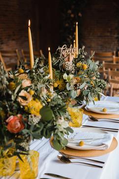 modern mustard wedding colour scheme
