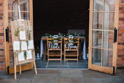 mapperley farm wedding breakfast area