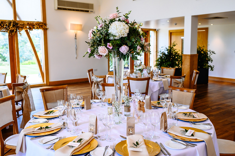 tall wedding floral centrepiece