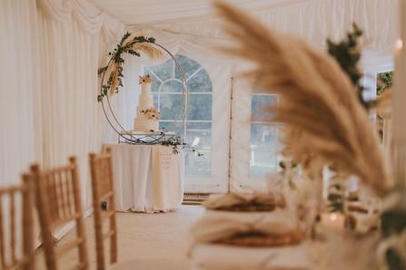marquee pampas grass wedding