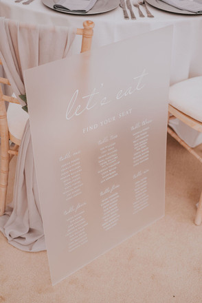 frosted acrylic perspex table plan