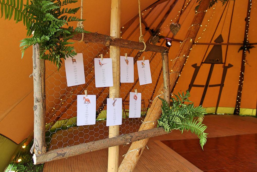 woodland table plan ideas