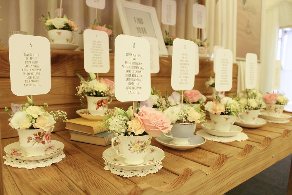 tea cup table plan ideas