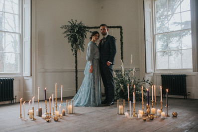 wedding ceremony candlesticks brass