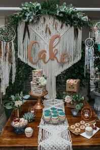 bohemian cake table RMW