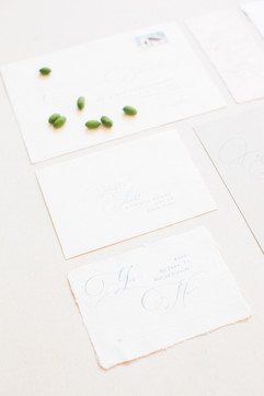 olive wedding stationery