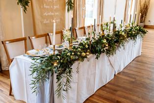 greenery garland top table mythe barn